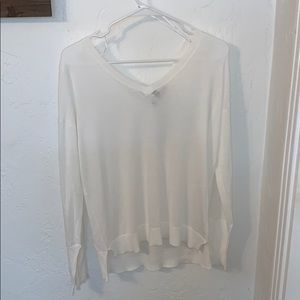 Lulus white long sleeve shirt